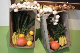 Groenten hoofdrol in restaurant/bloemenwinkel